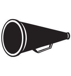 cheer megaphone cheerleader megaphone clipart cheerleading  [ 2384 x 1282 Pixel ]