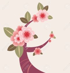 blossom cherry plum tree drawing branch illustration clipart vector japanese sakura branches depositphotos clipground blossoms flowers japan vectors