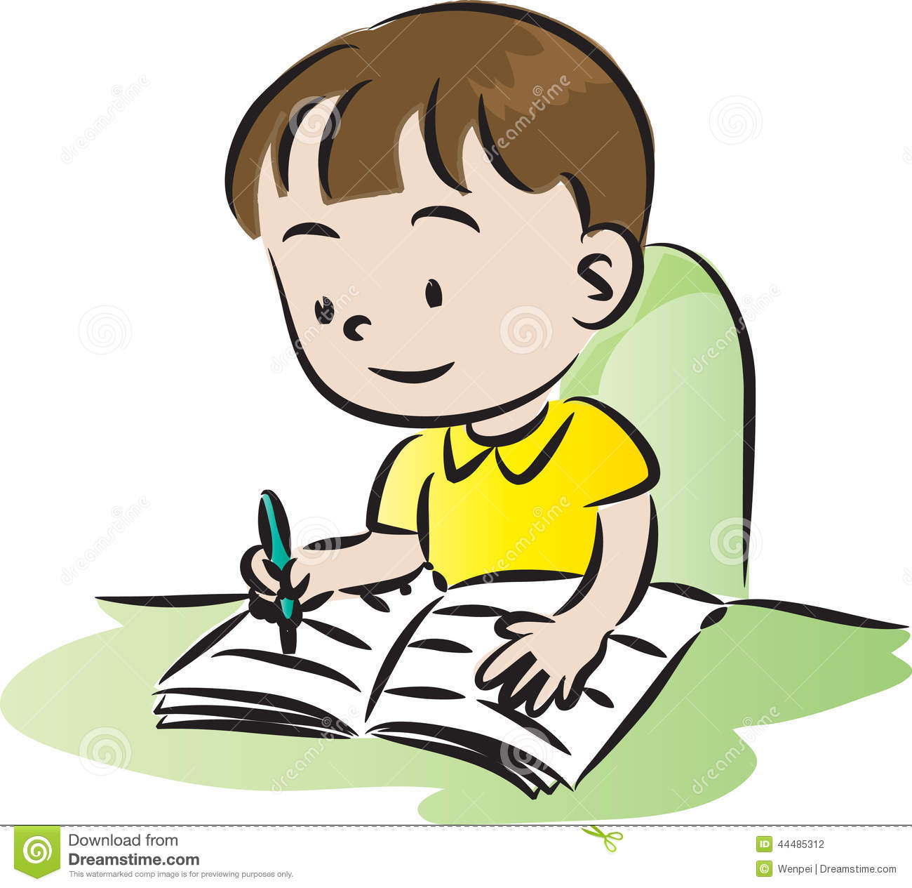 Child Doing Homework Clipart 20 Free Cliparts