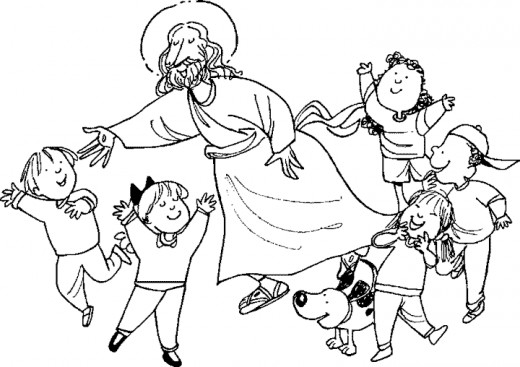 Child jesus clipart black and white clipground, jesus loves children coloring page