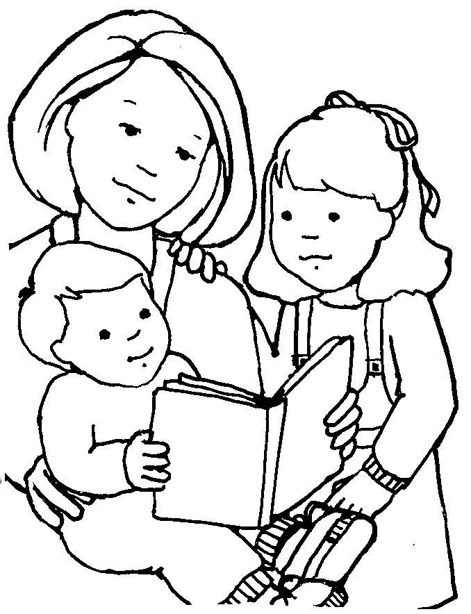 children reading clip art black and white 20 free Cliparts