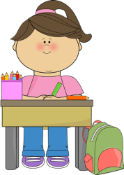 clipart desk student working clip kid children doing clipground cliparts
