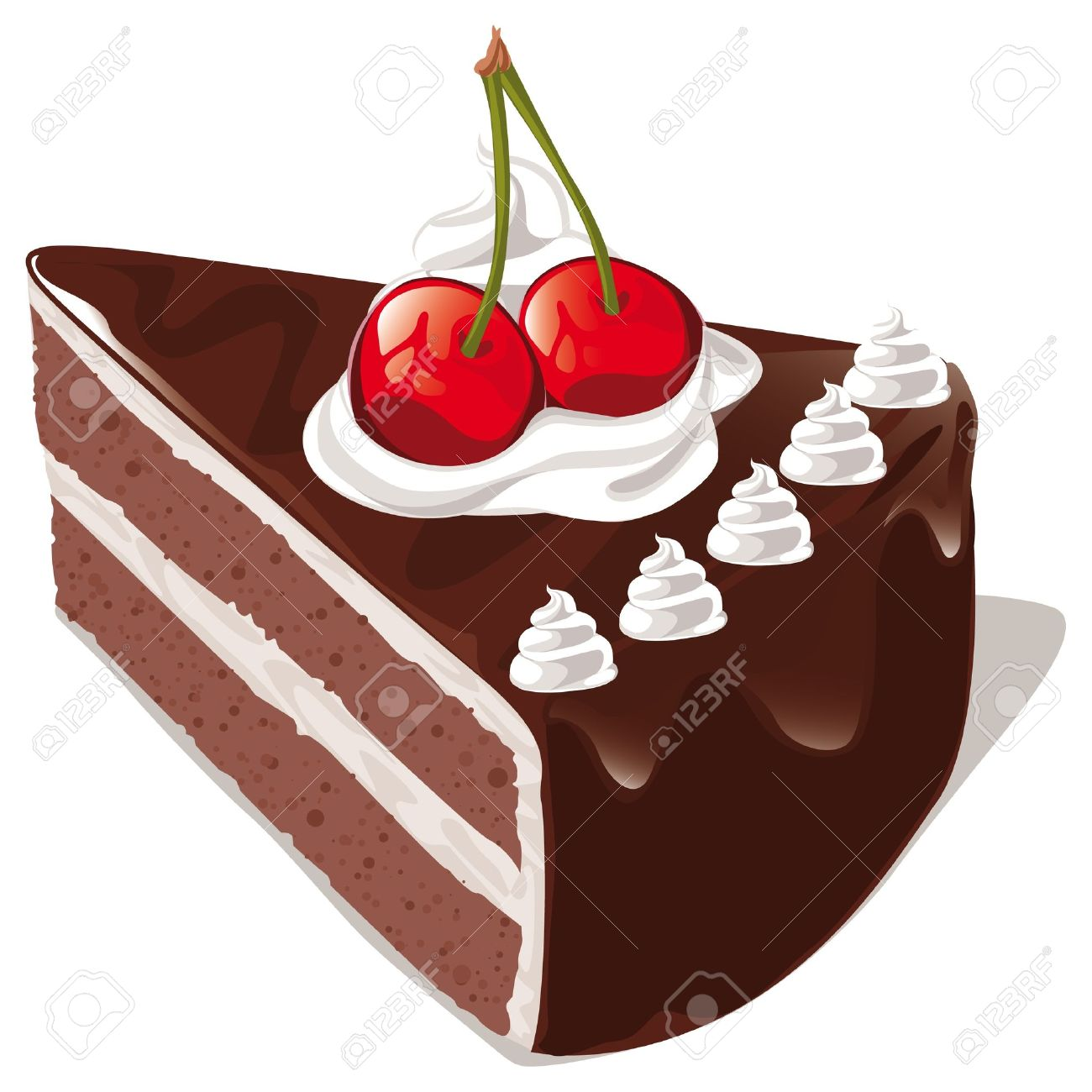 chocolate cake slice clipart  Clipground