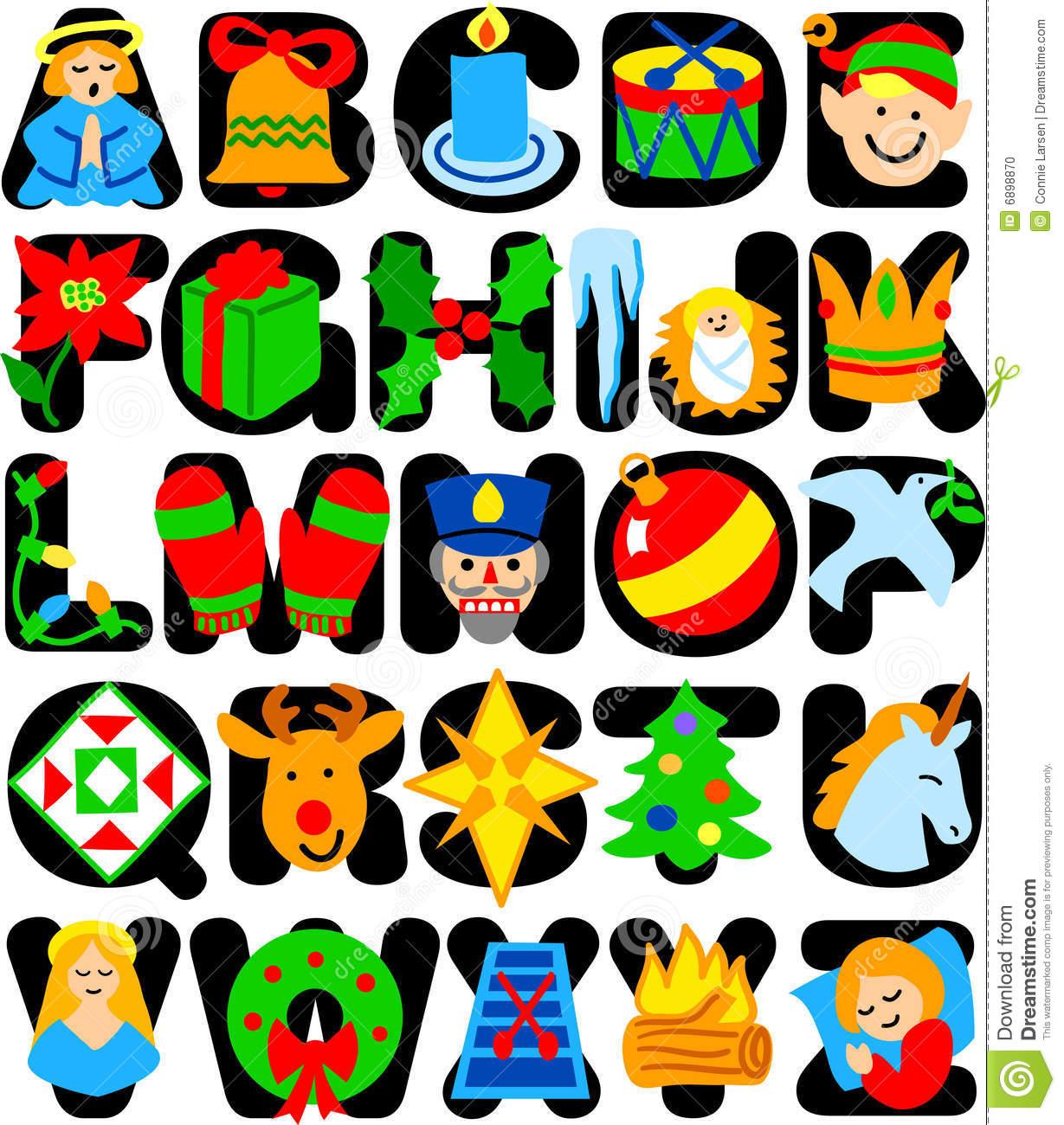 Christmas Alphabet Clipart 20 Free Cliparts
