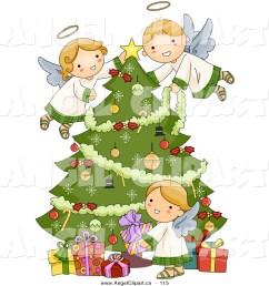 christmas angel tree clipart  [ 1024 x 1044 Pixel ]