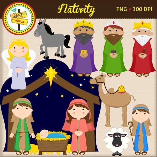 small resolution of christmas characters nativity clipart