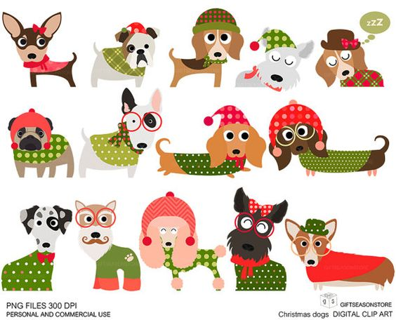 christmas dog clipart 20 free cliparts