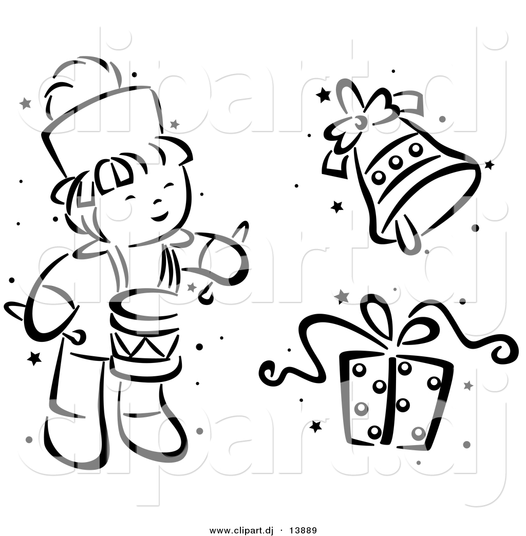 Christmas Eve Clipart Black And White