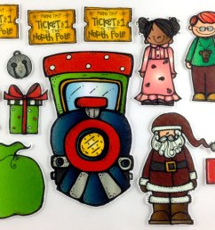 polar express christmas clip art  [ 1500 x 1018 Pixel ]