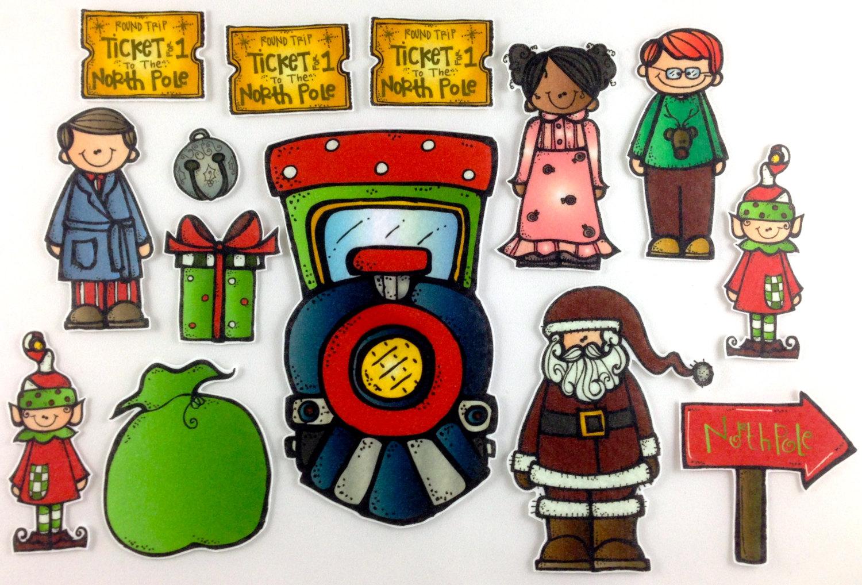 hight resolution of polar express christmas clip art