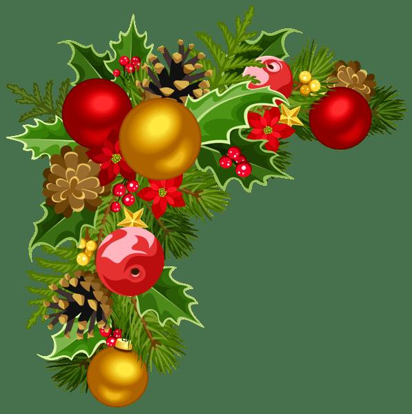 christmas ornament border clipart