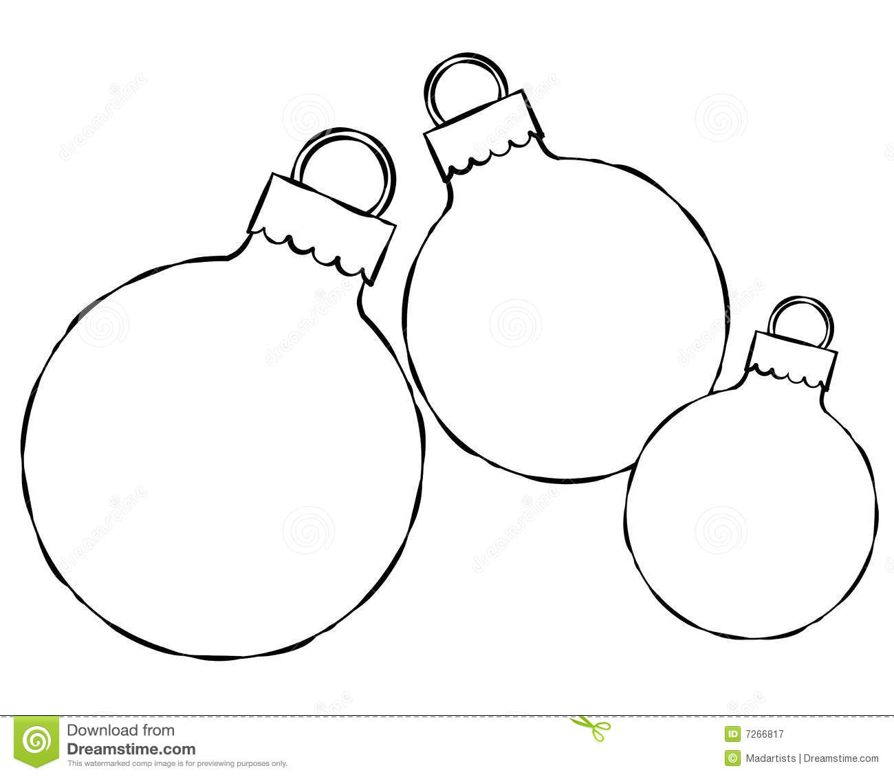 Christmas Ornament Clipart Black And White Free
