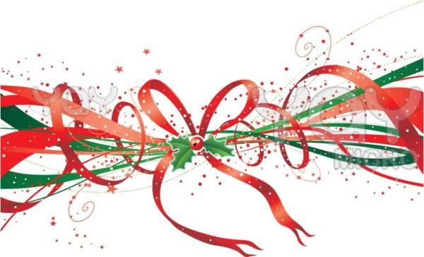 clipart christmas ribbon animal