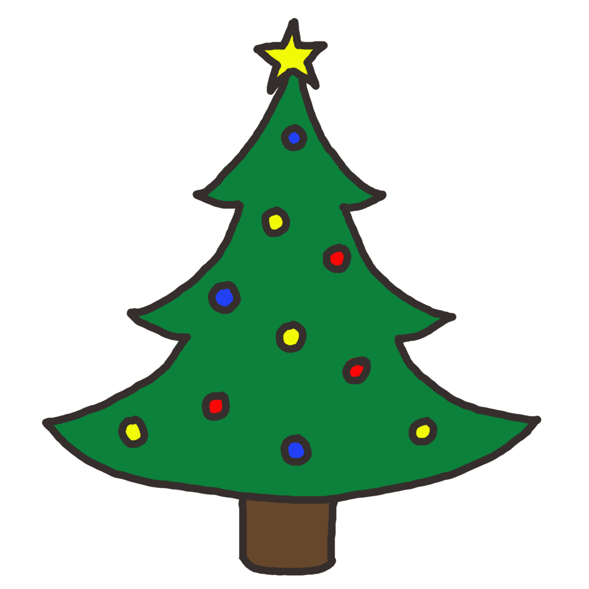 Xmas Tree Cartoon Clip Art 20 Free Cliparts