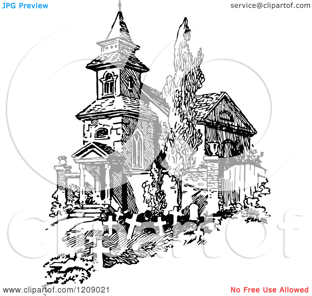Church Graveyard Clipart