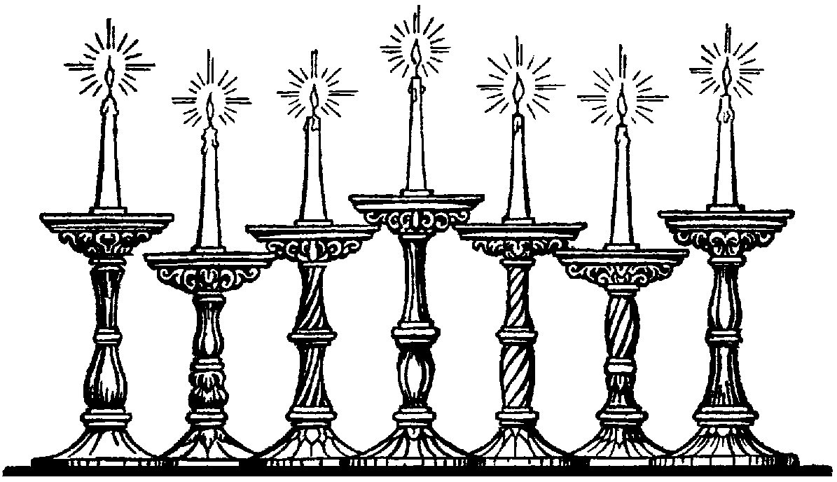 Ancient Lampstand Seven-lamp Clipart - Clipground