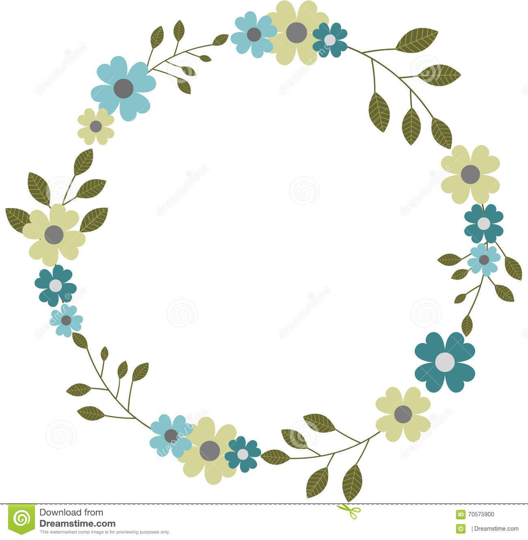 circle flower wreath clipart  Clipground