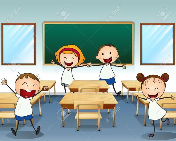 Classroom Students Clip Art