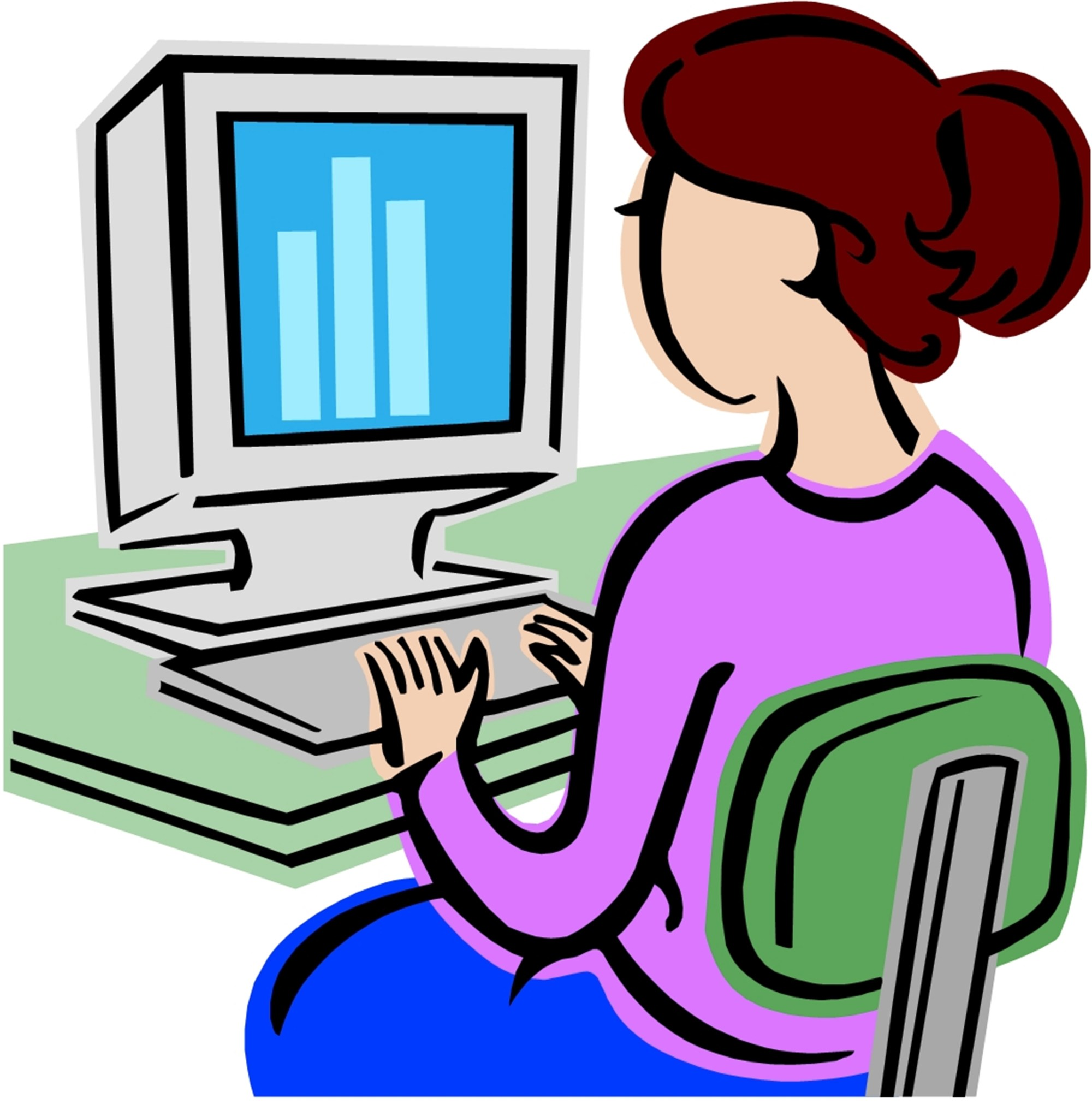 hight resolution of computer classes clipart