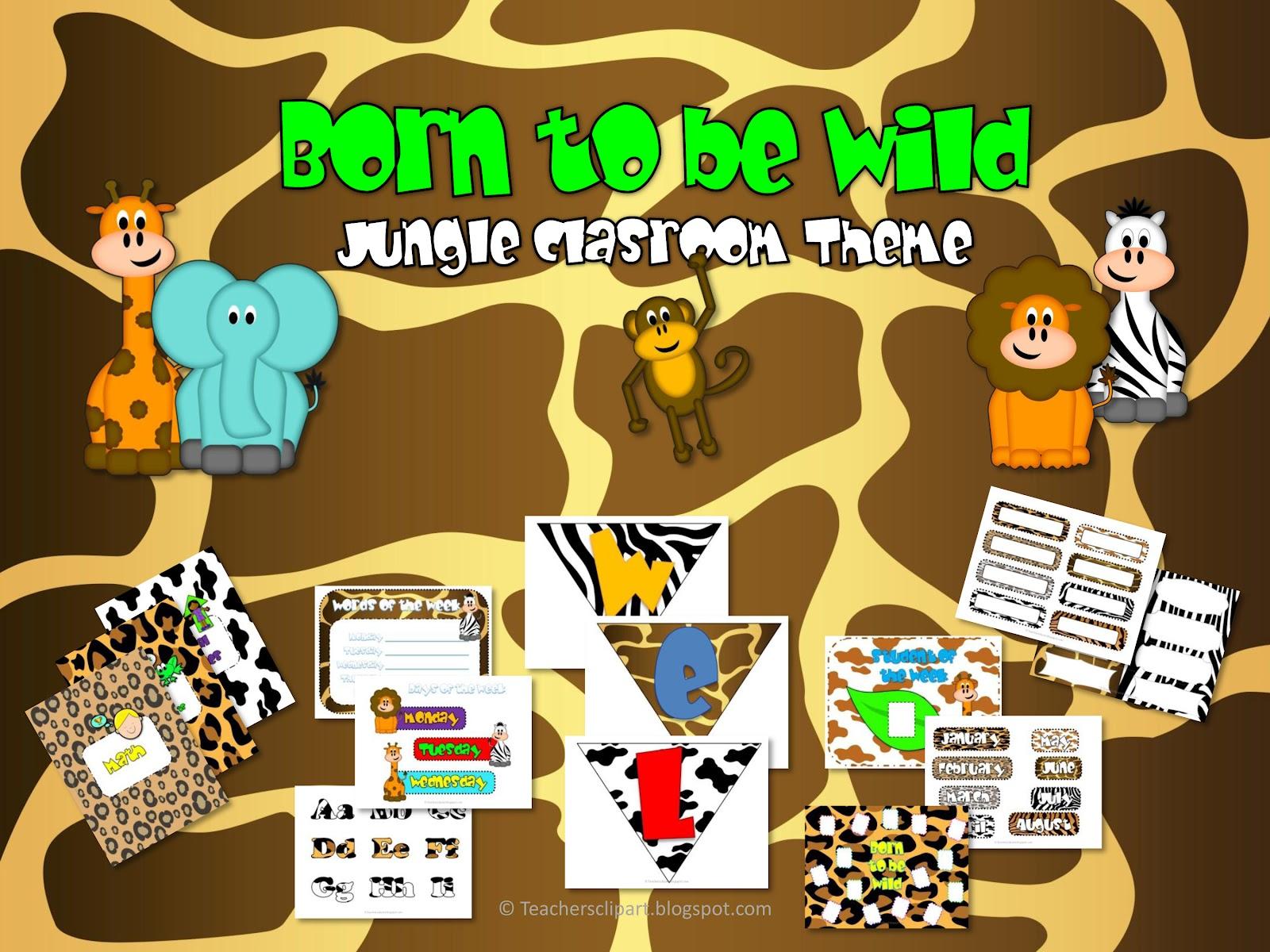 Jungle Theme Classroom Clipart 20 Free Cliparts