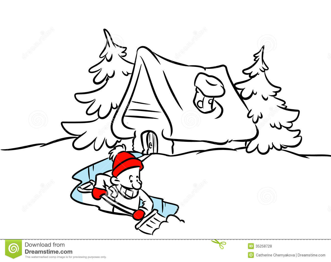 Clearing Snow Clipart
