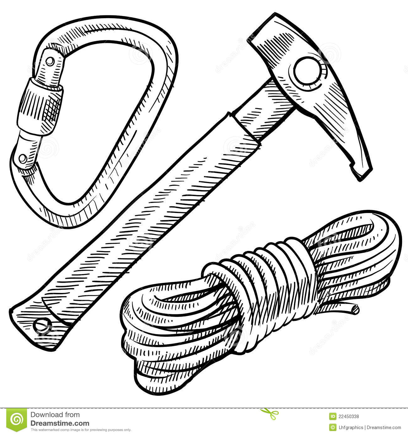 Climbing Equipment Clipart