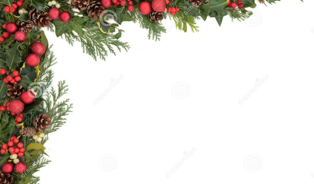 Clip Art Christmas Holly Border Clipground