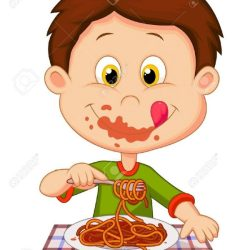 eating clipart clip kid dinner boy clipground