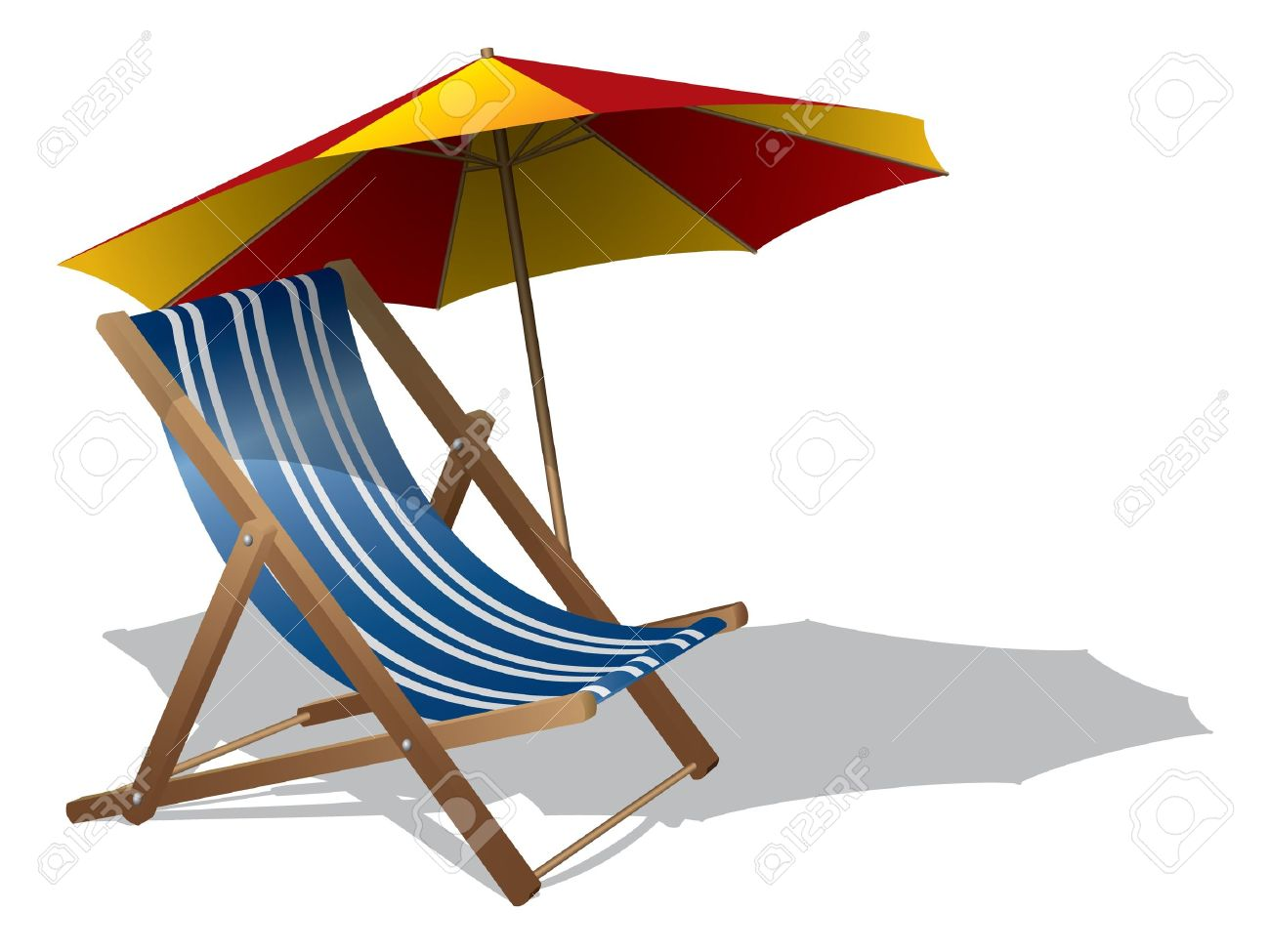 beach chairs and umbrella desk chair ergonomic requirements clipart clipground