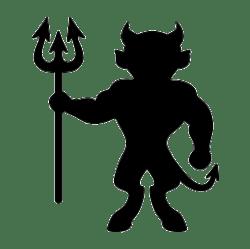 devil silhouette demon clipart halloween clip svg silhouettes stencils devils silhouettegarden etching glass pdf clipground vinyl craft projects detective