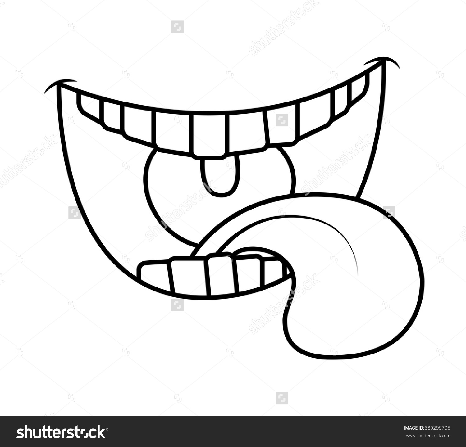 Clipart Black And White Tongue