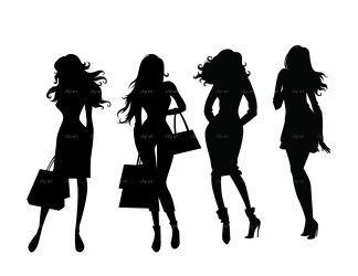 boss lady silhouette clipart shopping clip ladies vector woman google digital etsy cliparts drawing eps illustrations instant barbie library clipground
