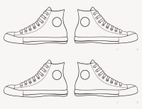 clipart boy template shoes - Clipground