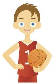 clipart boy with brown hair