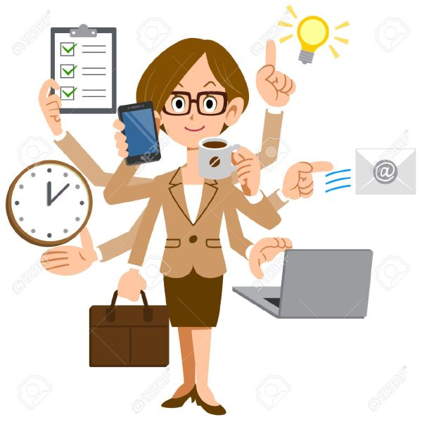 clipart busy woman - clipground