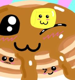how to draw kawaii pancakes step by step food pop culture free [ 1366 x 686 Pixel ]