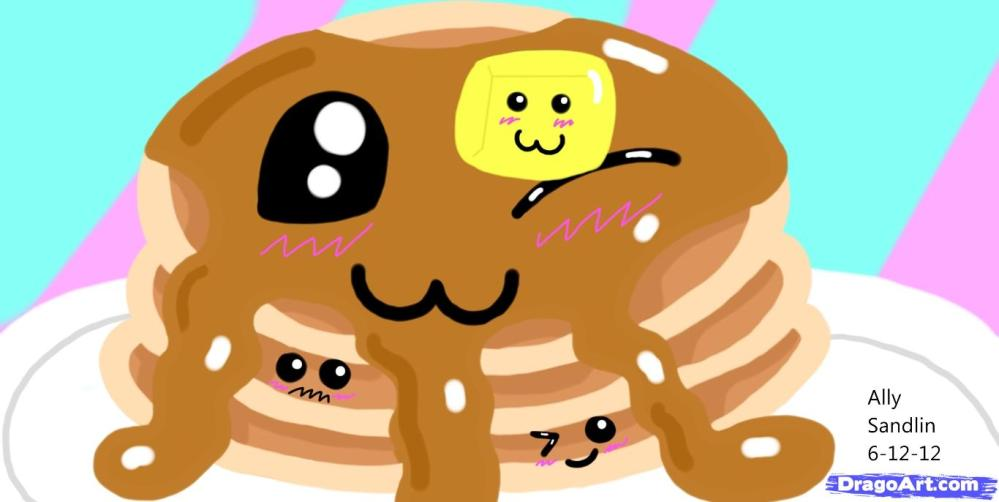 medium resolution of how to draw kawaii pancakes step by step food pop culture free