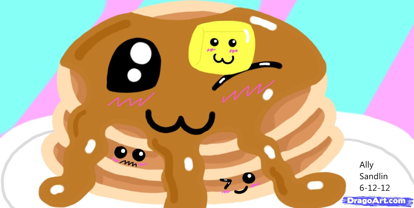 hight resolution of how to draw kawaii pancakes step by step food pop culture free
