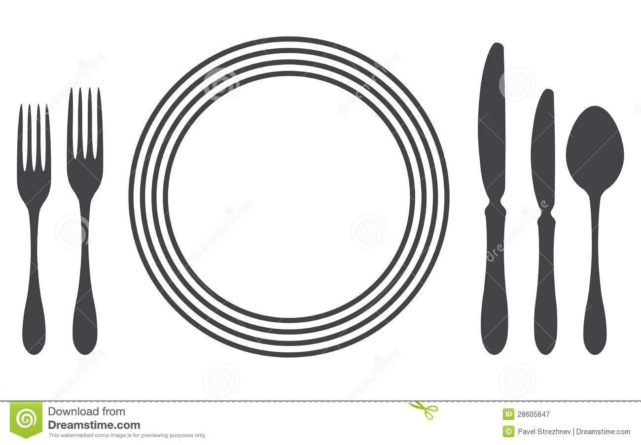 Clipart Dinner Table Setting