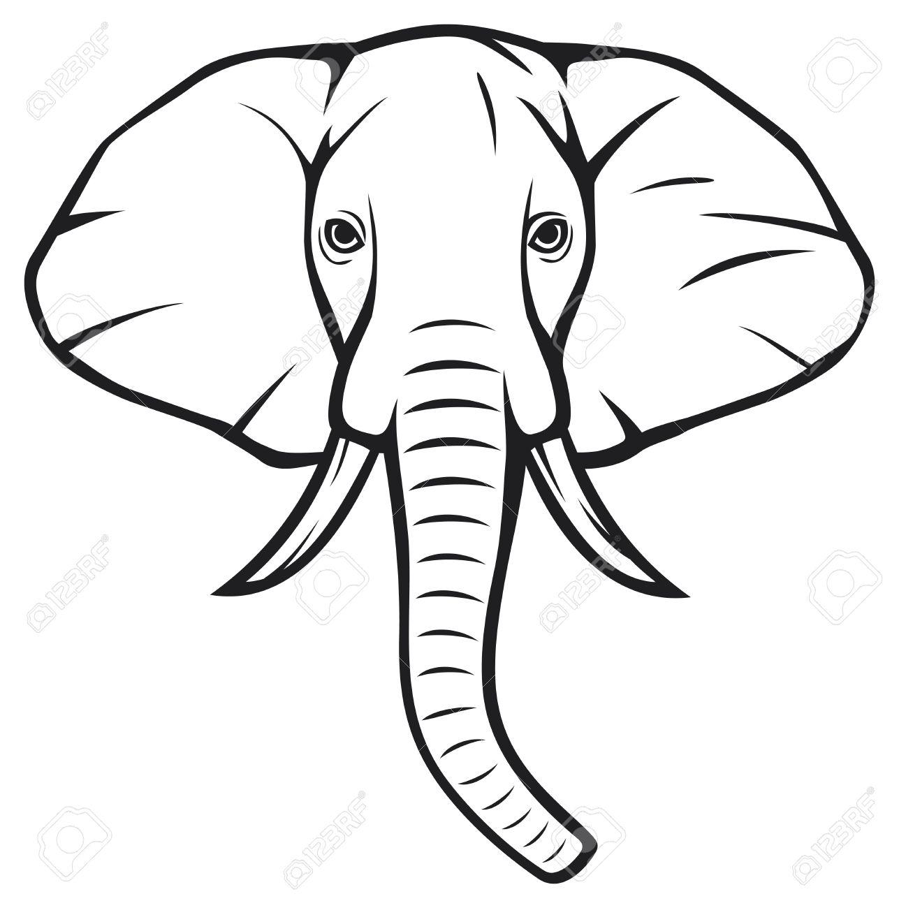 Clipart Elephant Face