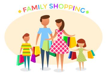 shopping vector clipart families hd discount cliparts vectors graphics