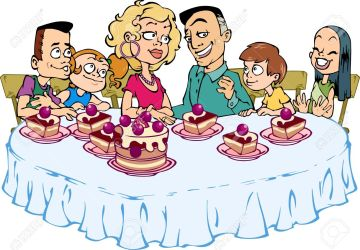 eating clipart dinner lunch cake table eat sitting happy royalty meal clipground six help