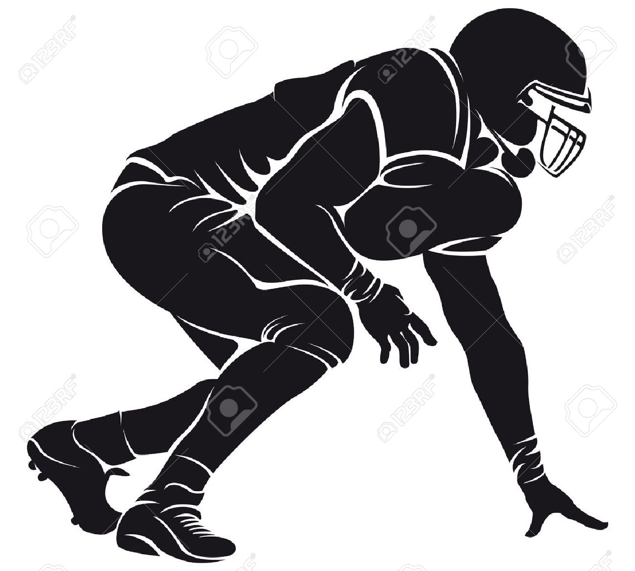 hight resolution of clipart football players silhouette 18