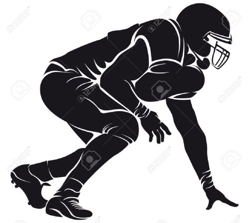 small resolution of clipart football players silhouette 18