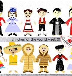 children of the world clipart  [ 1000 x 797 Pixel ]