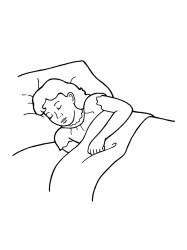 sleeping bed clipart sleep clip asleep library clipground cliparts illustration nursery print