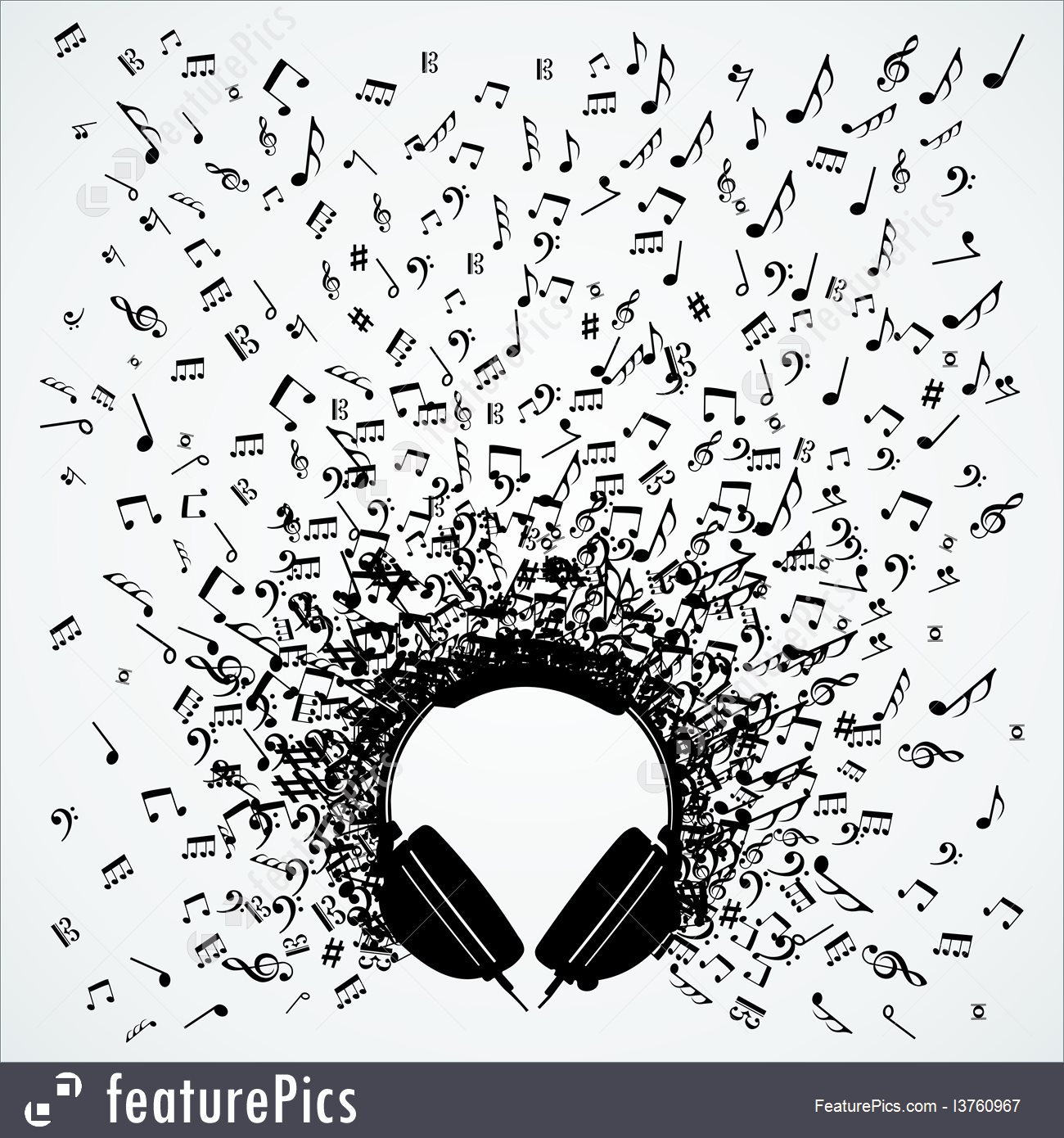 Clipart Headphones With Music Notes 20 Free Cliparts