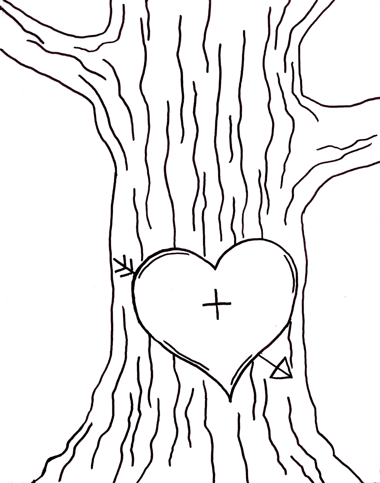 Clipart Image Black And White Tree Carvings 20 Free