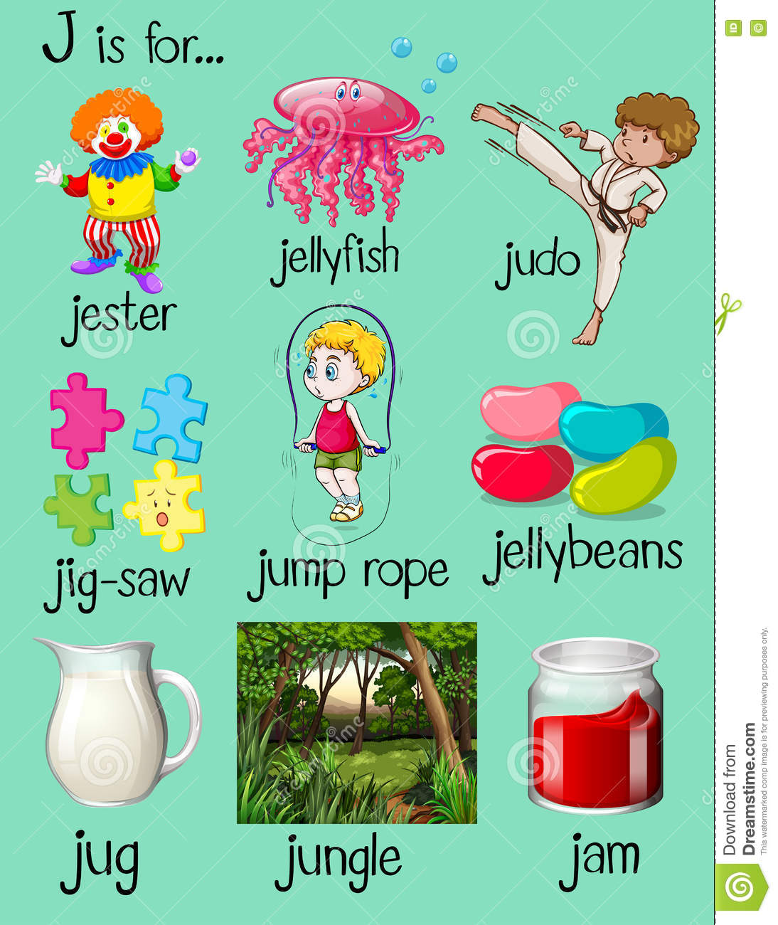 Clipart J Words