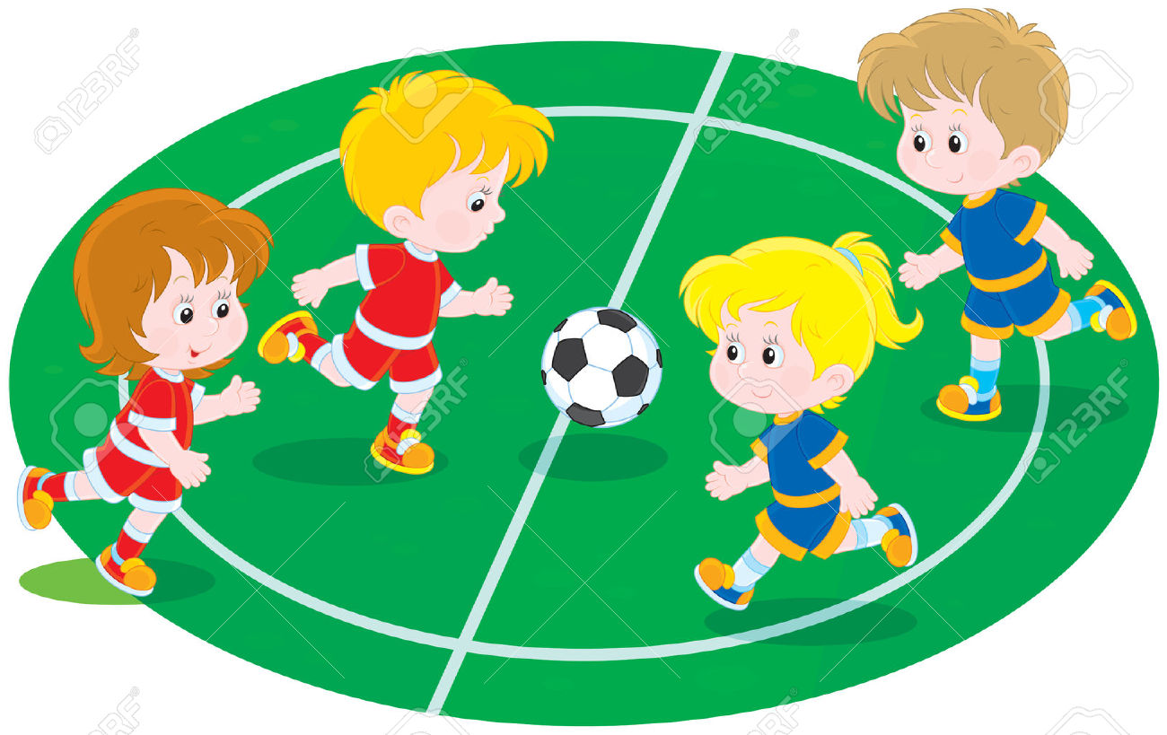 hight resolution of 1 117 children playing football stock vector illustration and